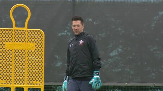exterior shots of southampton goalkeeping coach andrew sparkes at training. - goalkeeper stock videos & royalty-free footage