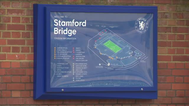 vídeos de stock, filmes e b-roll de exterior shots of stamford bridge home of chelsea football club on 1 june 2018 in london united kingdom - major league soccer