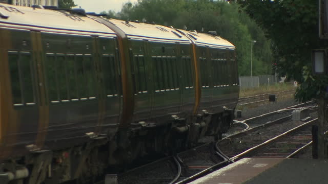 exterior shots of stourbridge junction train station ,including west midlands railway train arriving and departing on the 28th august 2020 in... - railway junction stock videos & royalty-free footage