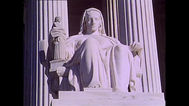 exterior shots of supreme court, washington d.c.; 1972 - supreme court stock videos & royalty-free footage