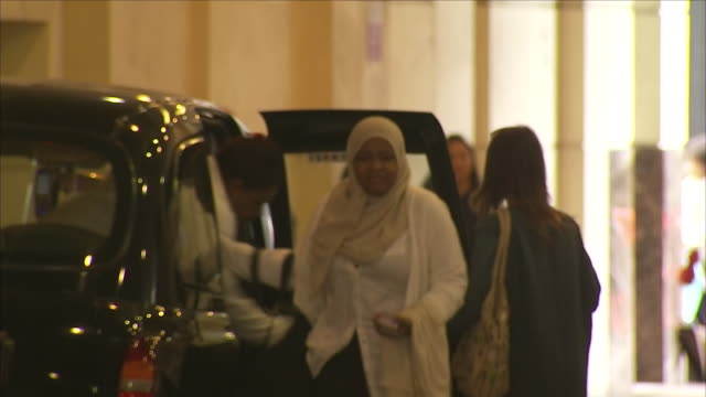 exterior shots of survivors and bereaved family members arriving at the millennium gloucester hotel to provide tributes and share their memories as... - トリビュート・イベント点の映像素材/bロール