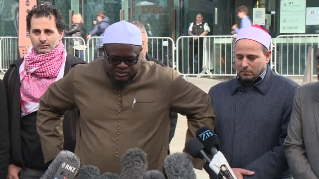 exterior shots of survivors and relatives of christchurch mosque shooting victims giving a press conference outside christchurch high court after the... - sentencing stock videos & royalty-free footage