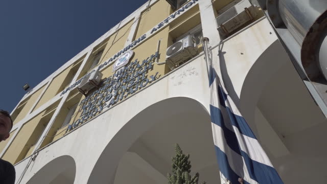 exterior shots of syros police station where harry maguire was being held on 22 august 2020 in syros, greece - station stock videos & royalty-free footage