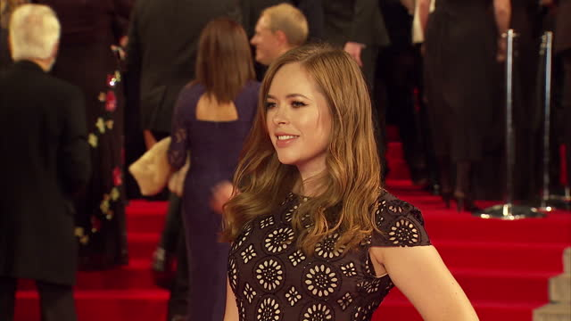 exterior shots of tanya burr attending the royal world premiere of 'spectre' at royal albert hall on october 26 2015 in london england - spectre 2015 film stock videos and b-roll footage