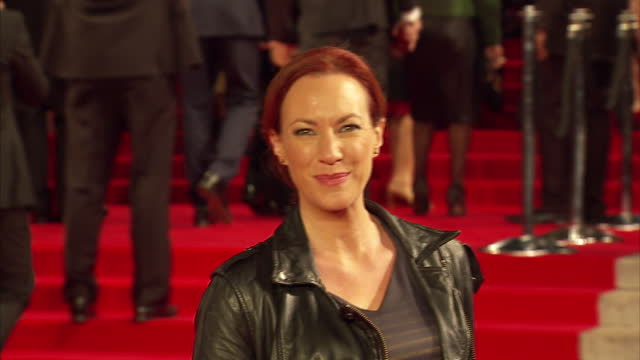 exterior shots of tanya franks attending the royal film performance of 'spectre' at the royal albert hall on october 26 2015 in london england - spectre 2015 film stock videos and b-roll footage