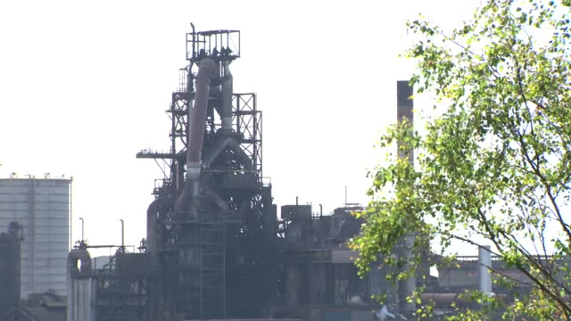 exterior shots of tata steel steelworks on 28 may in port talbot united kingdom - metal blend stock videos and b-roll footage