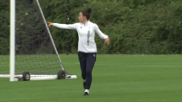 exterior shots of team gb player lucy bronze at a training session ahead of the tokyo 2020 olympics on 3rd july 2021 in loughborough, united kingdom. - england stock videos & royalty-free footage