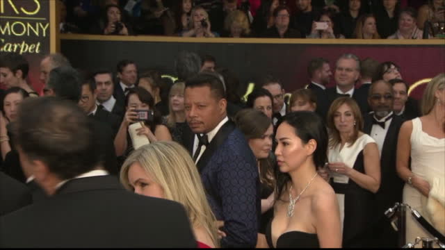 Exterior shots of Terrence Howard and Mira Pak on the Oscars red carpet>> on February 26 2017 in Los Angeles California