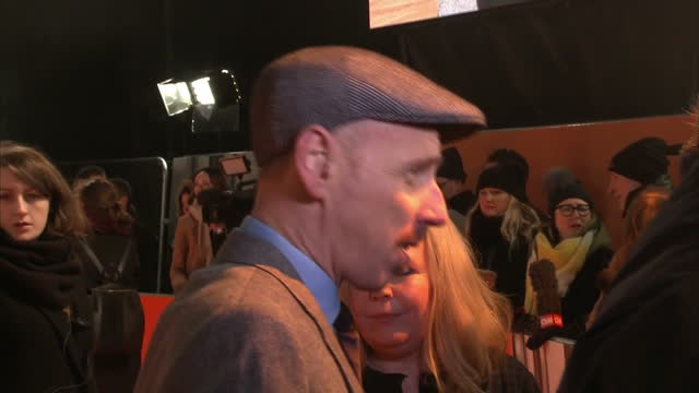 exterior shots of the actor ewen bremner on the red carpet at the trainspotting 2 premiere being interviewed on january 22 2017 in edinburgh scotland - ewen bremner stock videos & royalty-free footage