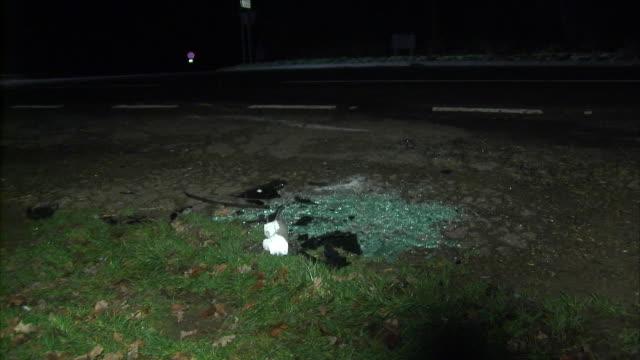 vidéos et rushes de exterior shots of the aftermath of prince philip's car crash on 17 january 2019 in sandringham united kingdom - prince philip