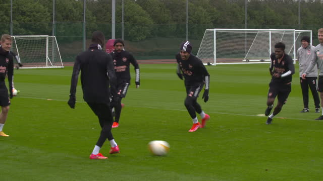 exterior shots of the arsenal squad at training. - sports training stock videos & royalty-free footage