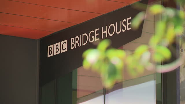 exterior shots of the bbc's bridge house and dock house in mediacityuk on salford quays on july 23, 2017 in salford, england. - salford quays stock videos & royalty-free footage