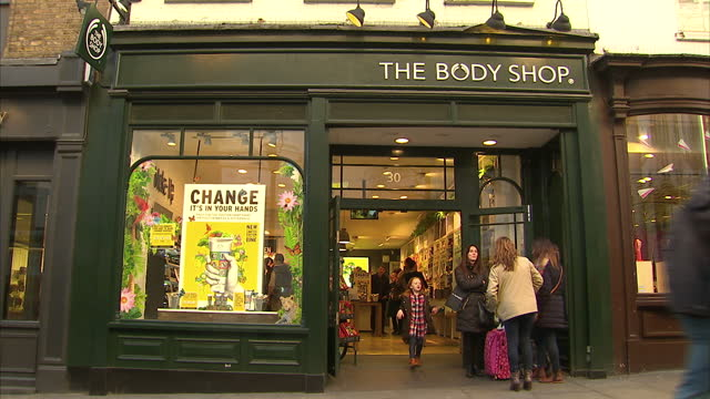 exterior shots of the body shop store in covent garden on february 10 2016 in london england - repair garage stock videos & royalty-free footage