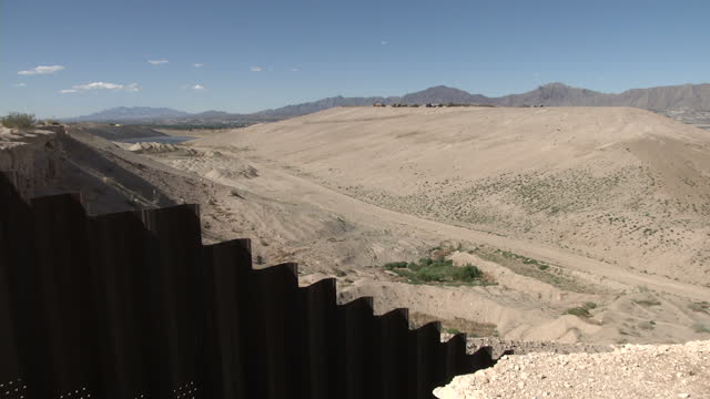 Exterior shots of the border fence between Mexico and the US on June 06 2015 in Juarez Mexico