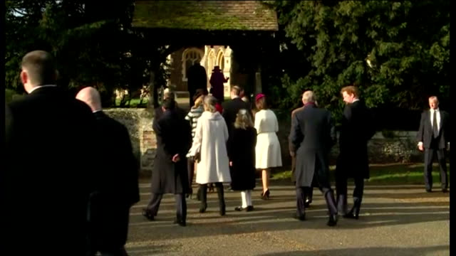 exterior shots of the british royal family including princess anne prince philip prince charles peter philips autumn philips prince william and... - lady louise windsor stock videos and b-roll footage