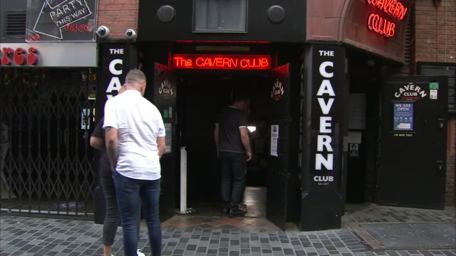 exterior shots of the cavern club entrance, known for its history and association with the beatles on the 20th september 2020 in liverpool, england - history stock videos & royalty-free footage