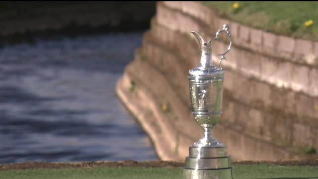 exterior shots of the claret jug trophy shots around carnoustie golf links course the venue for the 2018 open championship shot on april 24 2018 in... - golf links stock videos and b-roll footage