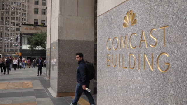 exterior shots of the comcast building on 30 rockefeller plaza on 21st september 2018 in new york united states - rockefeller center stock videos & royalty-free footage