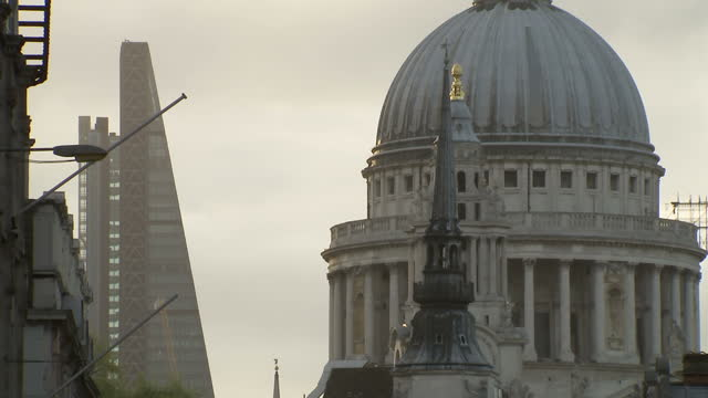 exterior shots of the dome of st paul's cathedral on may 7 2015 in london england - cityscape stock videos & royalty-free footage