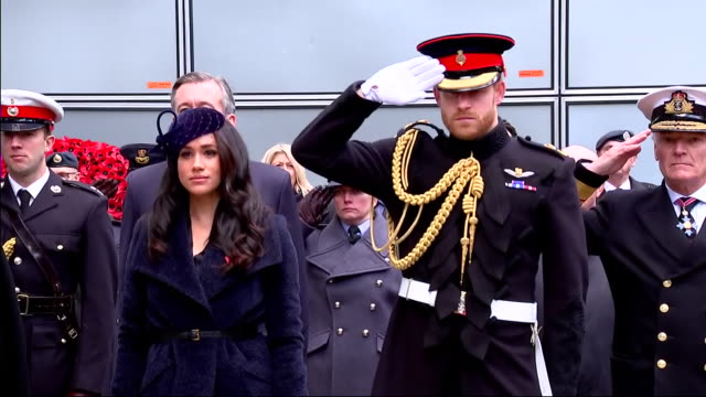 exterior shots of the duke and duchess of sussex at the field of remembrance at westminster abbey on 7 november 2019 in westminster united kingdom - prince harry stock videos & royalty-free footage
