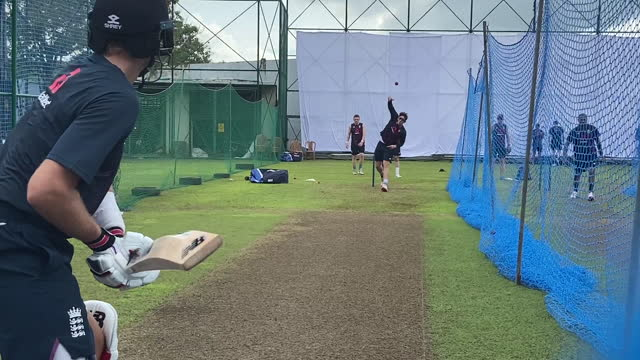 exterior shots of the england cricket team practising in the nets at training ahead of their two-match test series against sri lanka, and views of... - sri lanka stock videos & royalty-free footage