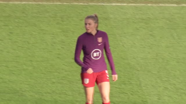 exterior shots of the england women participating in a training match at the bet 365 stadium in stoke-upon-trent on the 27th of november 2020. - females stock videos & royalty-free footage