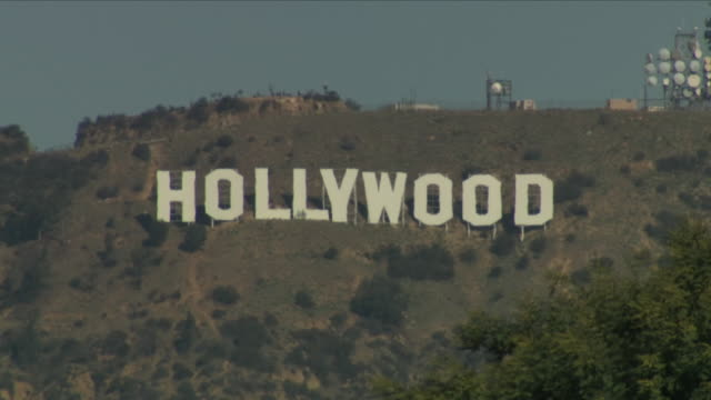 exterior shots of the famous hollywood hillside sign on 13 july 2018 in los angeles, united states - hill video stock e b–roll