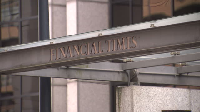 exterior shots of the financial times a newspaper broadsheet headquarters on july 23 2015 in london england - broadsheet stock videos and b-roll footage