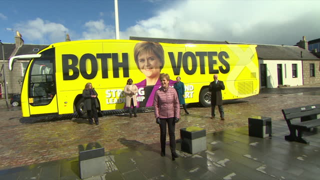 GBR: First Minister Nicola Sturgeon out canvassing on the last day of parliamentary elections