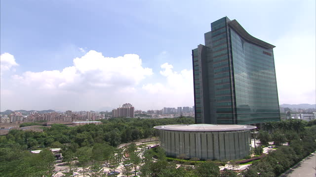 exterior shots of the headquarters of huawei in shenzhen on september 20 2015 in shenzhen china - base stock videos & royalty-free footage