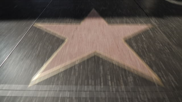 exterior shots of the hollywood walk of fame with various stars of the famous and tourists on 13 july 2018 in los angeles, united states - hollywood sign stock videos & royalty-free footage