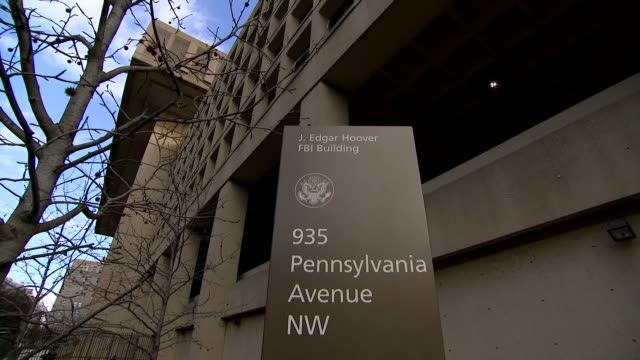 exterior shots of the j edgar hoover fbi building on 3 february 2018 in washington dc, united states - fbi stock videos & royalty-free footage