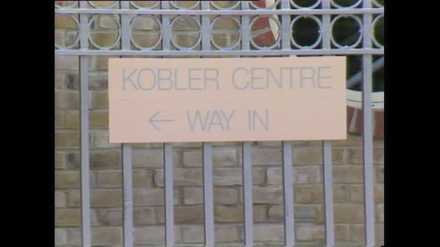 exterior shots of the kobler centre at st stephen's hospital in london, the uk's first purpose built day centre for aids patients; 1988. - hospital stock videos & royalty-free footage