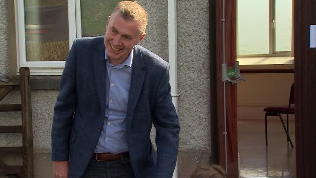 GBR: Leader of Plaid Cymru Adam Price casts his vote