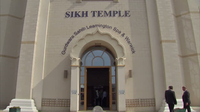 exterior shots of the leamington spa warwick sikh temple on april 08 2015 in leamington spa england - leamington spa stock videos & royalty-free footage