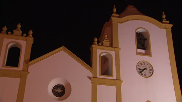 exterior shots of the local church, clock and bell on 26 october 2016 in praia da luz, portugal - madeleine mccann stock videos & royalty-free footage