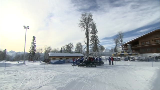 exterior shots of the lodge and ski lift - ski lodge stock videos & royalty-free footage