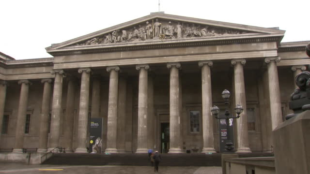 exterior shots of the london british museum. - british museum stock videos & royalty-free footage