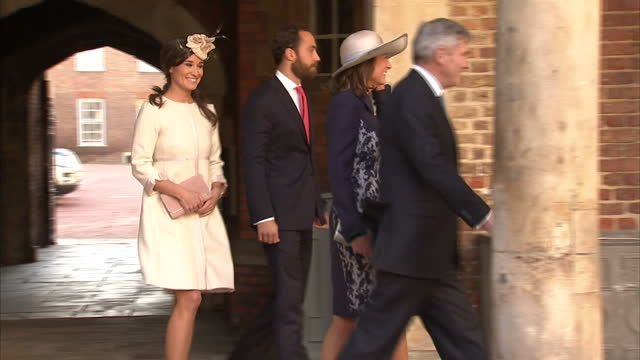 Exterior shots of the Middleton family Carole Middleton Michael Middleton Pippa Middleton James William Middleton arrive at St James' Palace for the...
