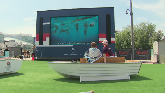 GBR: The official Team GB fan zone at Westfield London
