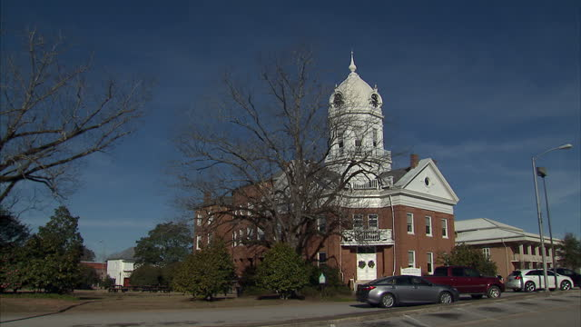 Exterior shots of the Old Monroe County Courthouse on February 18 2015 in Monroeville Alabama