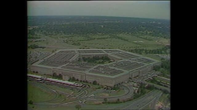 exterior shots of the pentagon and the us state department on 4 march 1992 in washington united states - virginia us state stock videos & royalty-free footage
