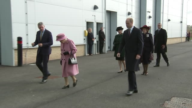 GBR: The Queen and Prince William visit Porton Down