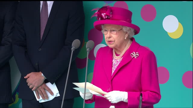 Exterior shots of the Queen thanking members of the public for their continued support paying tribute to the voluntary organisations and charities...