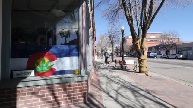exterior shots of the recently renovated riverwalk in pueblo colorado on february 25th 2016 photographer matthew staver/bloomberg shots wide shots of... - pueblo colorado stock videos & royalty-free footage