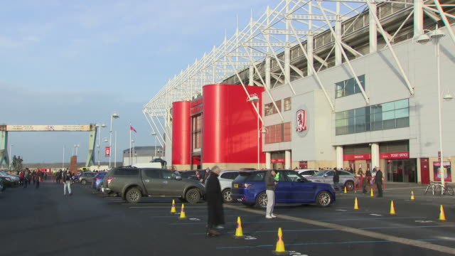 exterior shots of the riverside stadium home of middlesbrough fc as fans walk through turnstiles on 27 december 2018 in middlesbroughunited kingdom - middlesbrough stock videos and b-roll footage