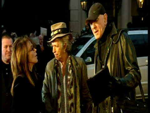 exterior shots of the rolling stones band on the red carpet at the film premiere of shine a light sky news archival content of rolling stones at... - audio electronics stock videos & royalty-free footage