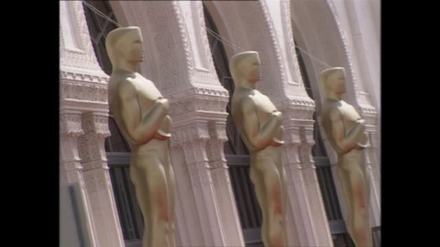 Exterior shots of the Shrine Auditorium being prepared for the 70th Academy Awards in March 1998 in Los Angeles Unites States