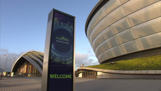 Exterior shots of the SSE Hydro building venue SSE Hydro Glasgow Commonwealth Games 2014 Venue on December 17 2013 in Glasgow Scotland
