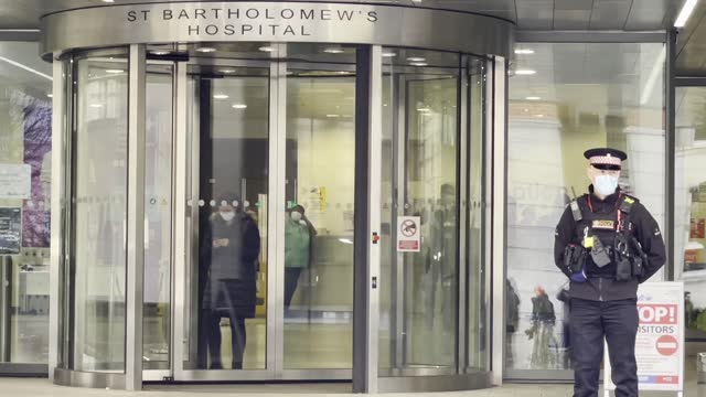 exterior shots of the st bartholomew's hospital where prince philip, the duke of edinburgh is currently receiving treatment in london on march 01,... - finance stock videos & royalty-free footage